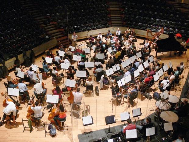 """Orquesta Sinfónica de Venezuela en plena grabación de """"Latin American Classics"""""""