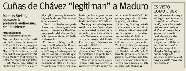 Entrevista de Franz von Bergen de Justo Morao / Diario Últimas Noticias / Sábado 26 de enero de 2013