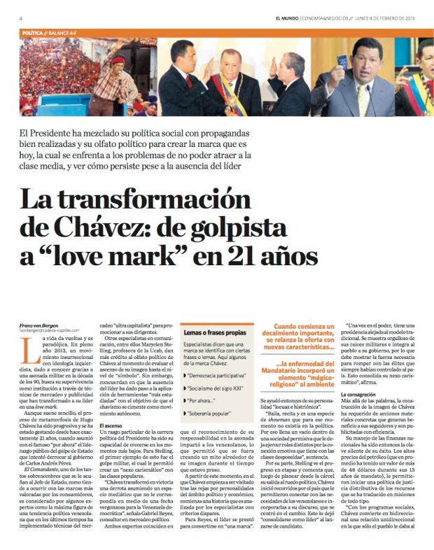 Entrevista de Franz von Bergen a Justo Morao / Diario El Mundo / 4 de febrero de 2013 - página 1-