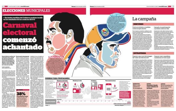 Carnaval electoral comenzó achantado /noviembre 22 de 2013/ Entrevista a Justo Morao por Zandy Aliendres del diario 2001