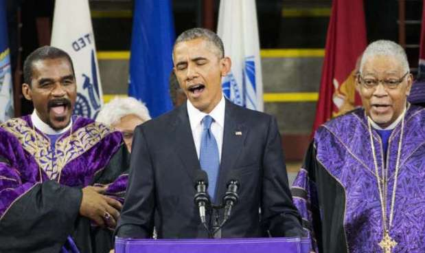 Obama canta Amazing Grace