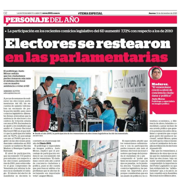 Electores se restearon en las parlamentarias - 2001