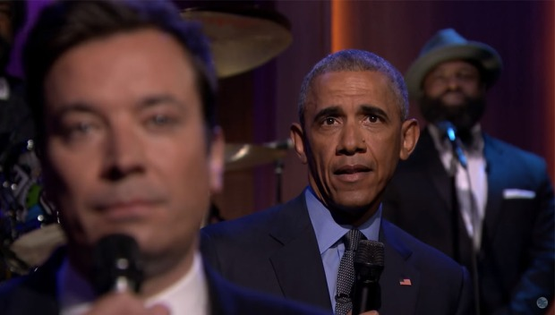 Jimmy Fallon y Barack Obama